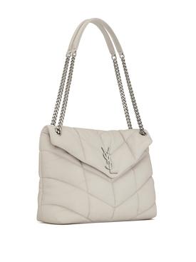 YSL Small Lou Lou Puffer Bag Crema Soft