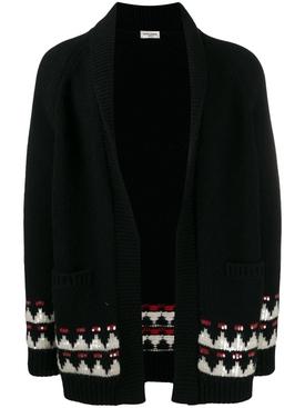 boho motif knitted cardigan