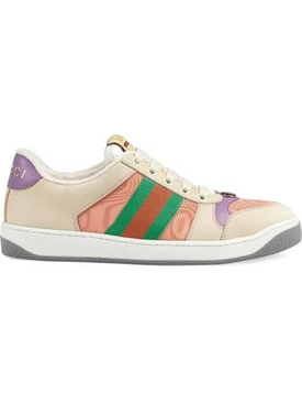 Pink and Purple screener sneakers