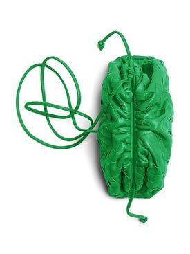 Intrecciato coin purse GRASS-SILVER