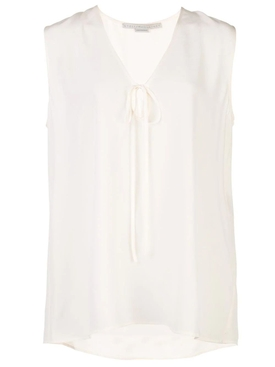 silk crepe sleeveless blouse