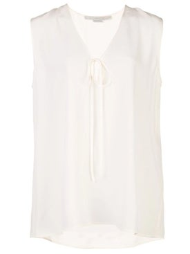 Stella Mccartney - Silk Crepe Sleeveless Blouse - Sleeveless