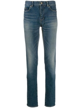 Saint Laurent - Faded Mid-rise Slim Jeans - Men