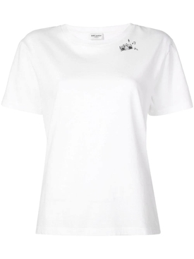 boombox print T-shirt