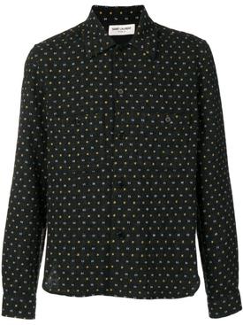 stitched pattern shirt