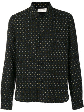 Saint Laurent - Stitched Pattern Shirt - Men