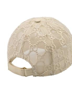 GG MESH BASEBALL CAP WHITE