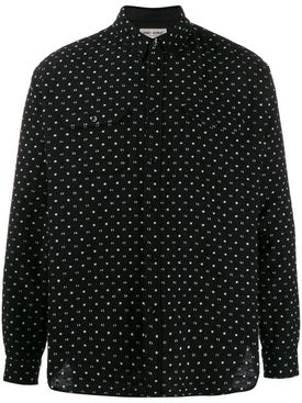 Saint Laurent - Black And White Patterned Shirt - Men