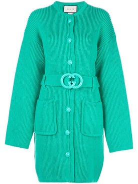 Gucci - Green Belted Cardigan - Women