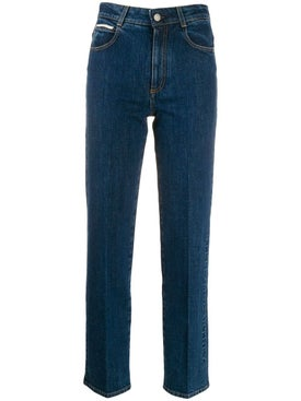 Stella Mccartney - Embossed Logo Straight Leg Jeans - Women
