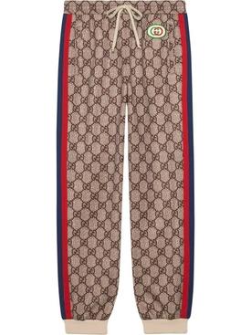 GG Supreme print jogging pants
