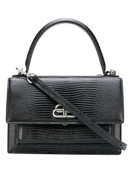 Croc-embossed Sharp Bag