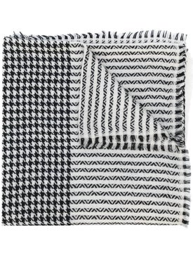 Saint Laurent - Houndstooth And Waves Scarf - Women