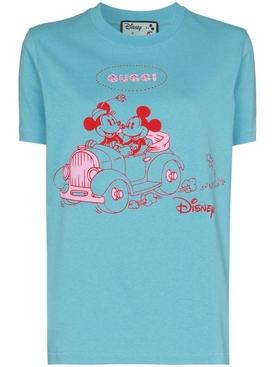 x Disney Mickey blue graphic  T-shirt