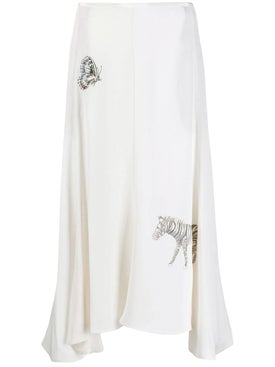 Stella Mccartney - Animal Embroidered Midi-skirt - Women