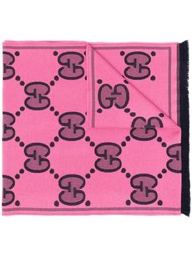 GG Supreme logo-print scarf PINK
