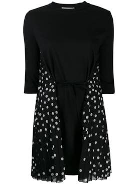 Stella Mccartney - Polka-dot Panel Dress Black - Women