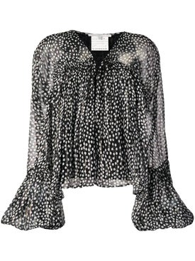 Stella Mccartney - Black And White Polka-dots Blouse - Long Sleeved