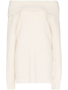 Stella Mccartney - Off-the-shoulder Sweater White - Women