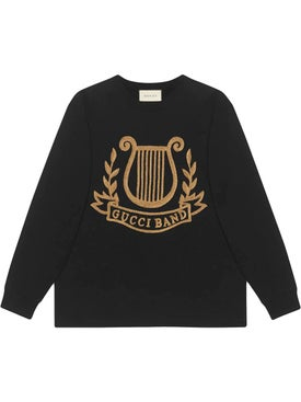 Gucci - Oversized T-shirt With Lyre Patch Black - Men