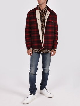 RED AND BLACK CLASSIC WESTERN CHECK PRINT SHIRT