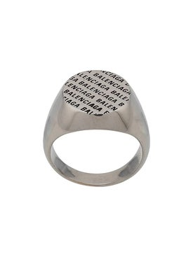 Balenciaga - Logo Signet Ring - Men