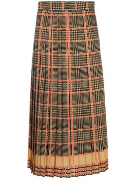 Gucci - High-waisted Check Print Skirt - Women