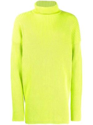 08fb227bf9c3 Balenciaga - Ribbed Turtleneck Sweater Neon Green - Men ...