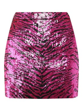 Saint Laurent - Pink And Black Sequined Skirt - Women