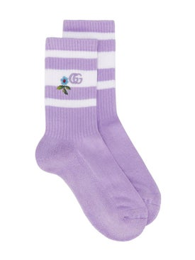 Gucci - Floral Embroidered Socks - Women