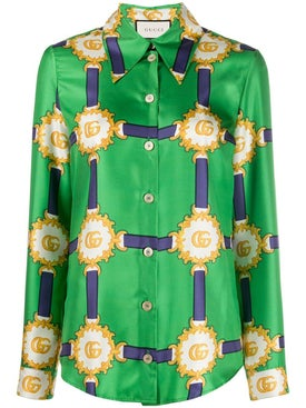 Gucci - Harness-print Silk Shirt - Women