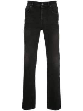 5-pocket fitted jean black