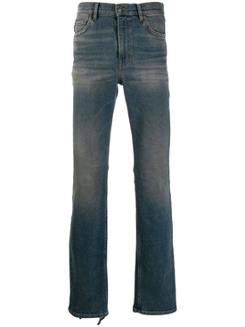stonewash straight leg jeans