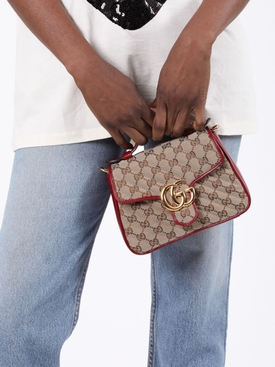 GG Marmont 2.0 Top Handle Bag RED/ BEIGE