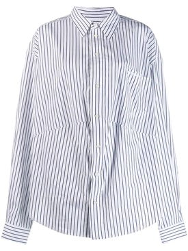 Balenciaga - White And Blue Swing Masculine Shirt - Women
