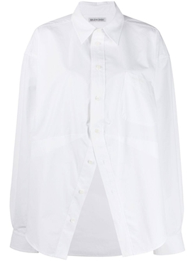 Deconstructed over-sized shirt