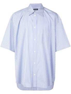 Balenciaga - Blue Oversized Striped Shirt - Men