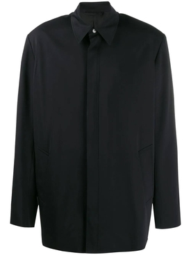 oversized shirt jacket black