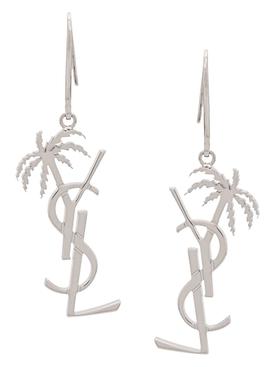 Monogram Palm Earrings SILVER