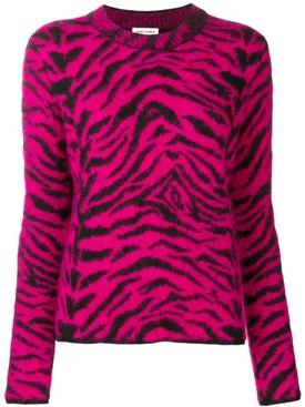 Zebra intarsia sweater