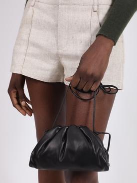 Black pouch clutch bag