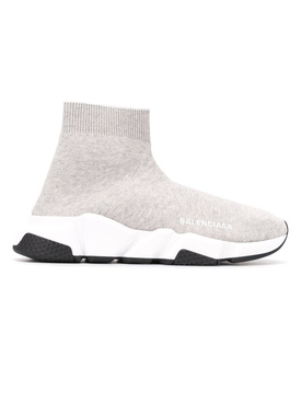 Balenciaga - Light Grey Speed Sock Sneakers - Women