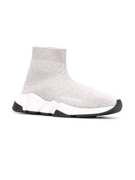 light grey speed sock sneakers