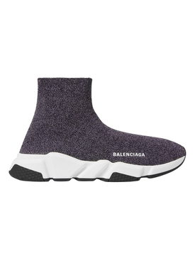 Grey speed sock sneakers