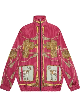 Horse print bomber jacket