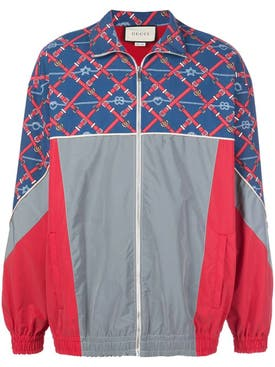 Gucci - Graphic Print Sports Jacket - Men