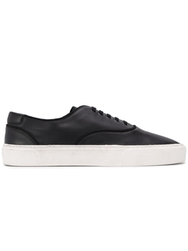 black leather Venice low-top sneakers