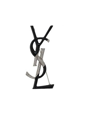 Saint Laurent - Ysl Embelli+shed Monogram Brooch - Women