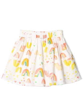 Kids Multicolored Rainbow Print Skirt