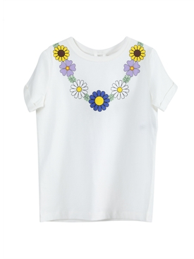 Stella Mccartney - Flower Necklace T-shirt - Kids